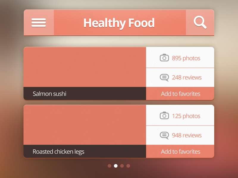 粉红色iphone ui手机界面设计_手机网站产品列表ui界面设计