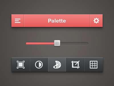 红色iphone ui图片处理软件界面设计_手机ui界面iphone的设计