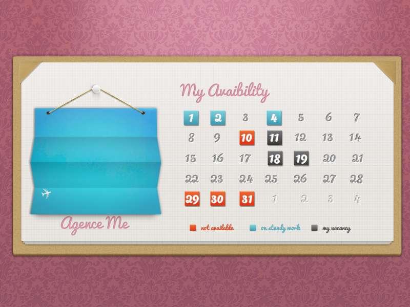 行程安排日历表ui界面设计_本月日历记事本ui界面设计