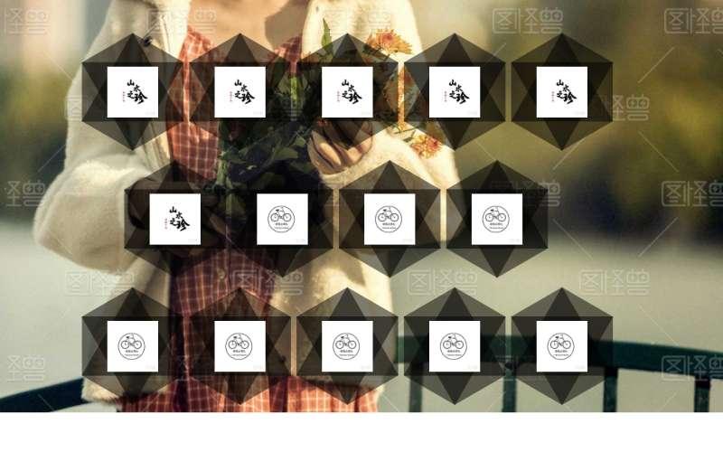 创意的图片六边形布局特效