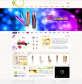 清新漂亮的品牌化妆品公司网页模板psd素材下载