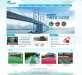 蓝色的设施建筑行业网站模板psd分层素材下载