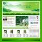 节能环保绿色网站模板psd分层素材下载