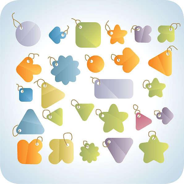 淘宝素材可爱的促销标签图标和卡通风格的折扣标签图标素材psd下载