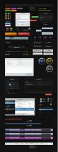 黑色网页各种网页设计元素ui导航条设计psd素材下载
