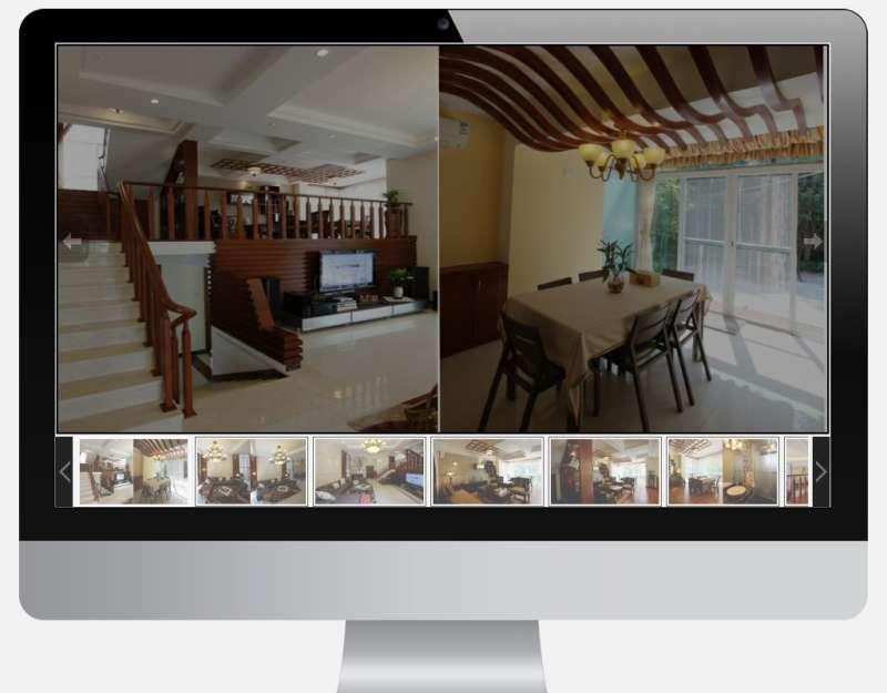 原生js图片相册幻灯片带缩略图标题文字描述的多组图片幻灯片切换
