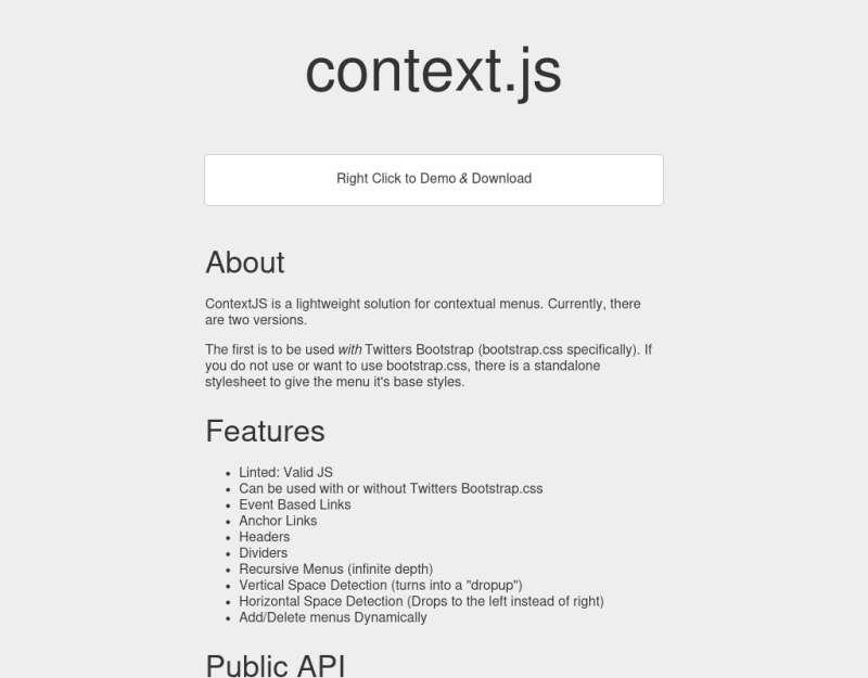 jQuery context.js鼠标点击右键弹出菜单选项