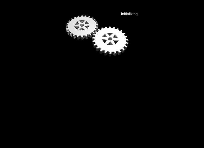 白色的圆形齿轮转动flash动画素材
