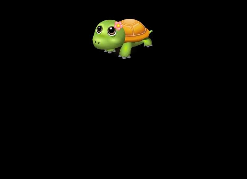 可爱乌龟爬行flash透明动画素材