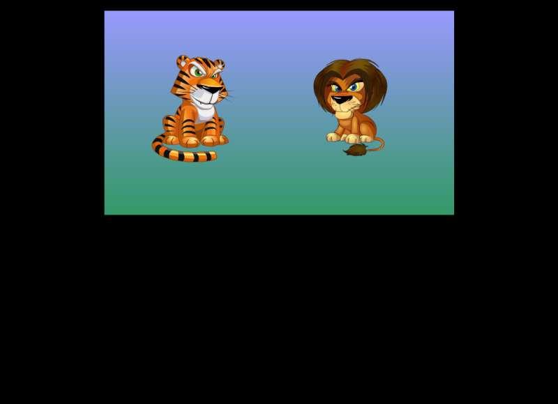 卡通的老虎和狮子flash动画素材