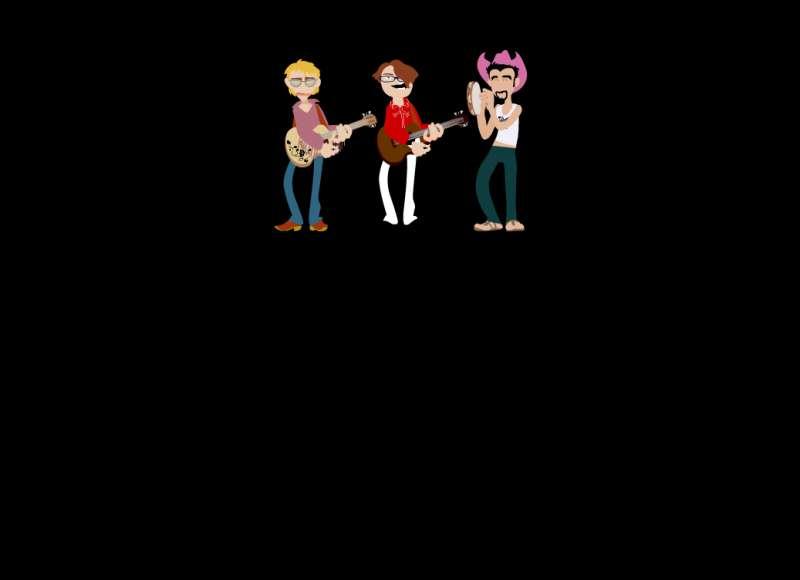 卡通人物弹吉他表演flash动画素材