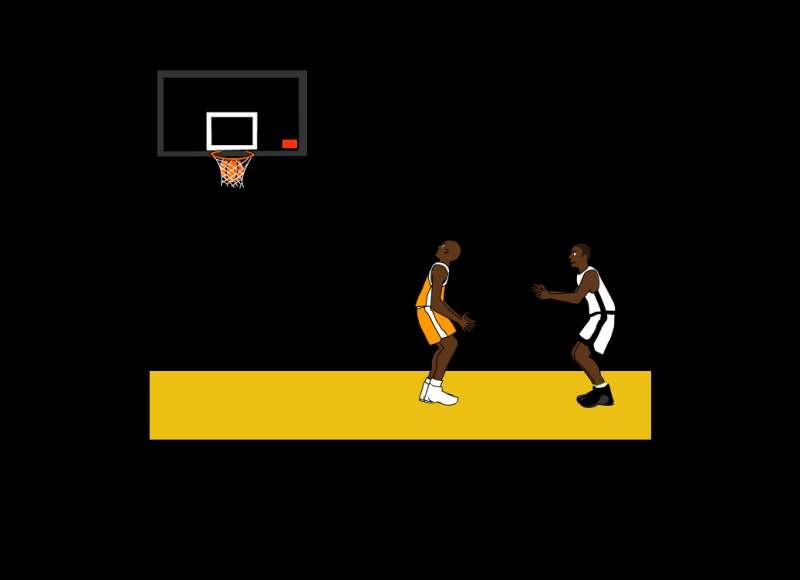 投篮球比赛flash动画场景素材