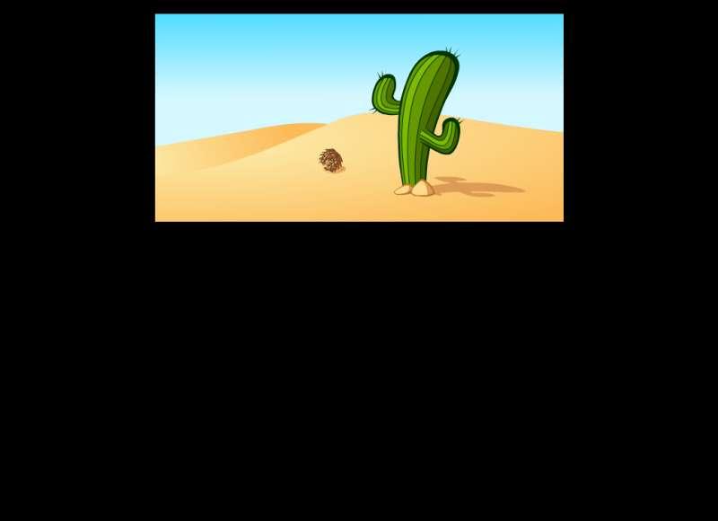 沙漠里仙人掌flash动画素材