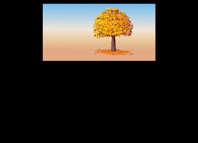 秋天树叶飘落flash动画素材