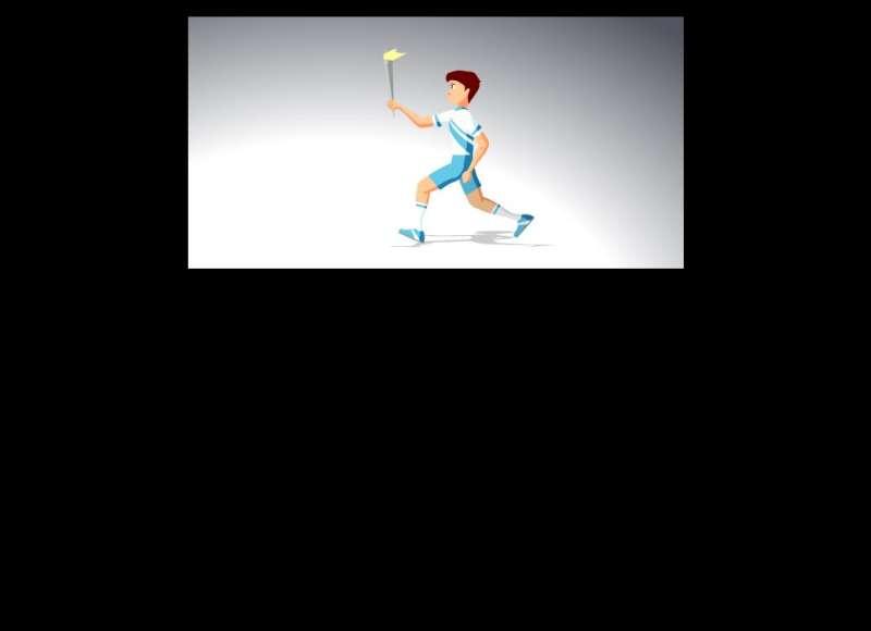 奥运火炬手人物奔跑flash动画素材