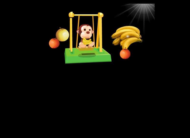 猴子荡秋千flash动画素材