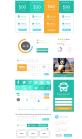 绿色网页扁平化设计趋势-绿色价格表格UI界面元素下载