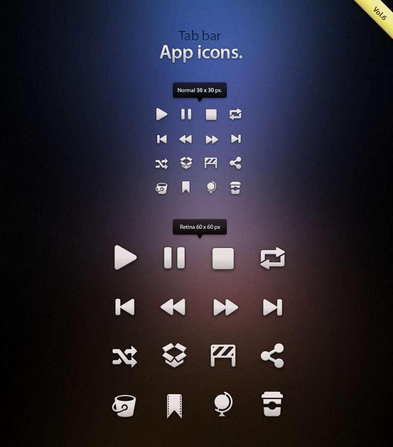 手机音乐播放器App应用软件图标psd素材下载