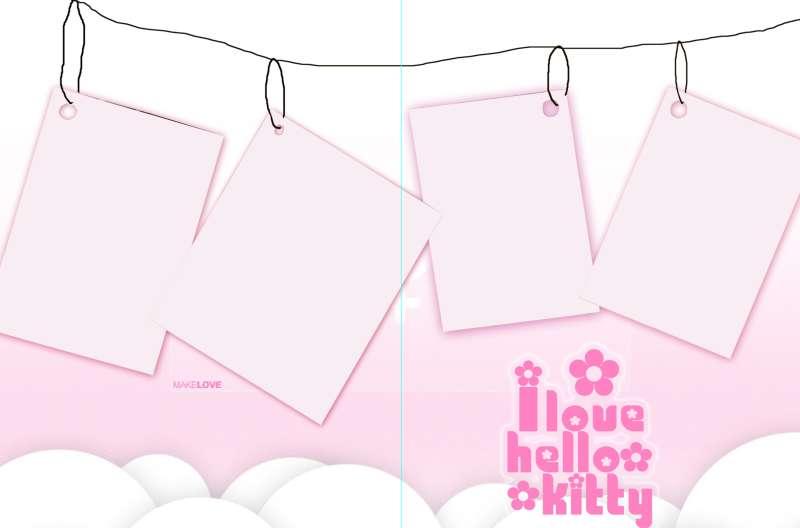 粉色相册相框_悬挂在线上的相册相框图片psd分层素材下载