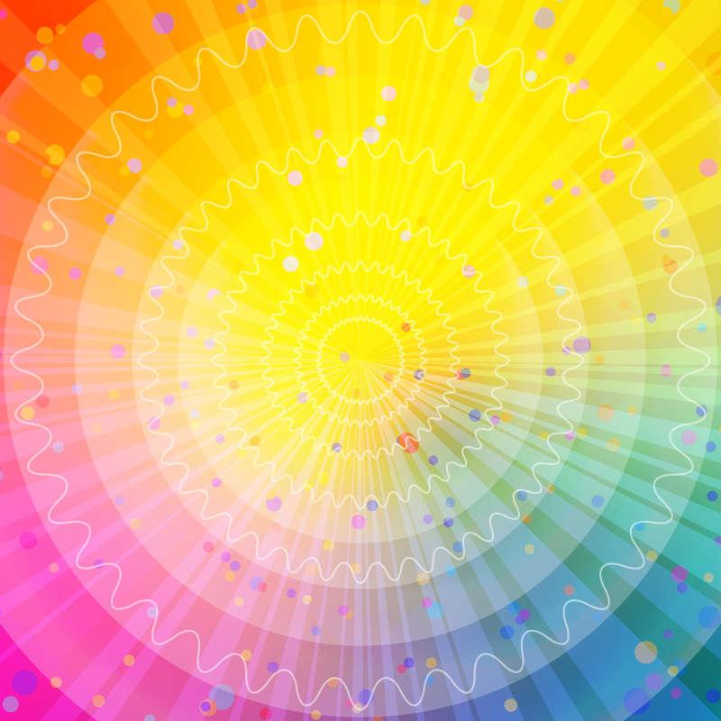 放射线多彩光环高清图片jpg下载