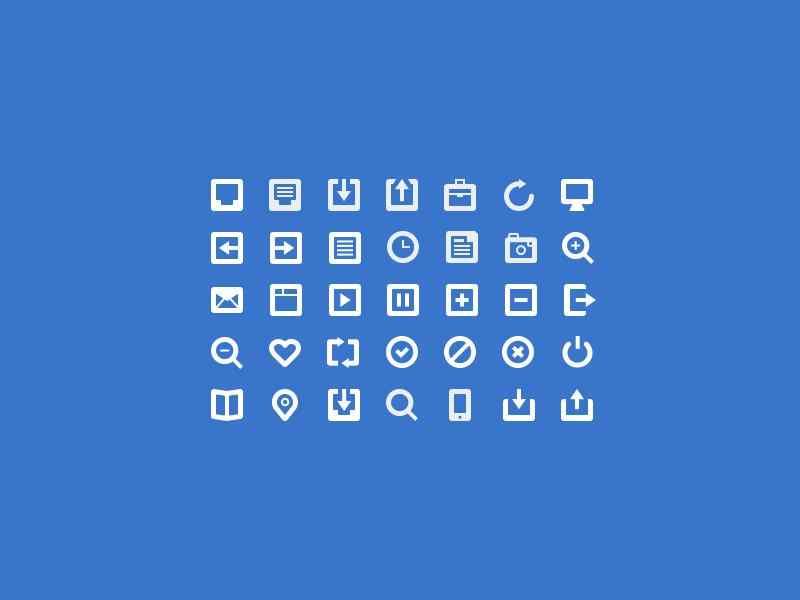 手机qq刷新好友列表_35个纯白色的网页工具图标psd素材下载