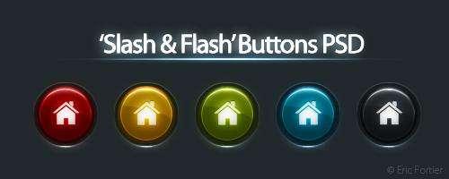 国外发光金属按钮图标PSD源文件