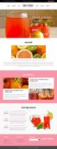 国外水果榨汁饮料店铺网站模板html源码