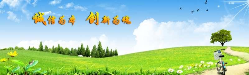 蓝天绿地追求理想生活主题banner广告psd分层素材