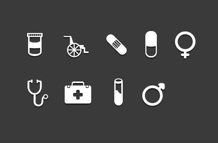 纯白色的医疗仪器图标_医疗器械图标psd素材下载