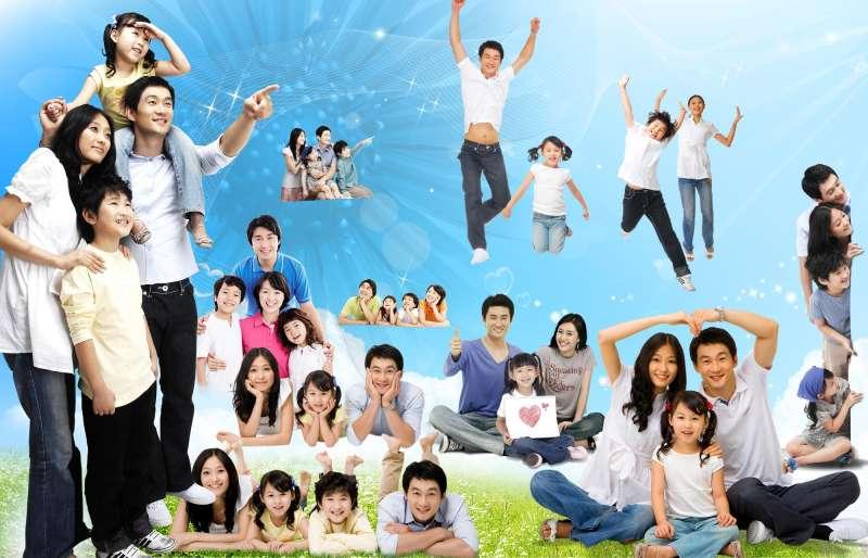 韩国亲子人物家庭图片_韩国亲子照家庭图片