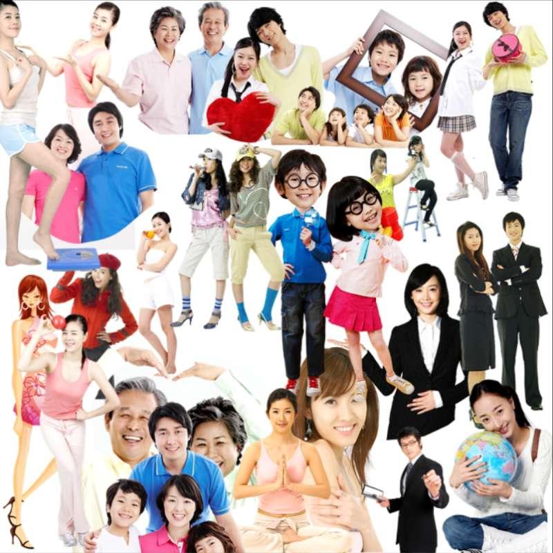 人物图片素材_ps人物素材_ppt人物素材_韩国素材人物psd分层图