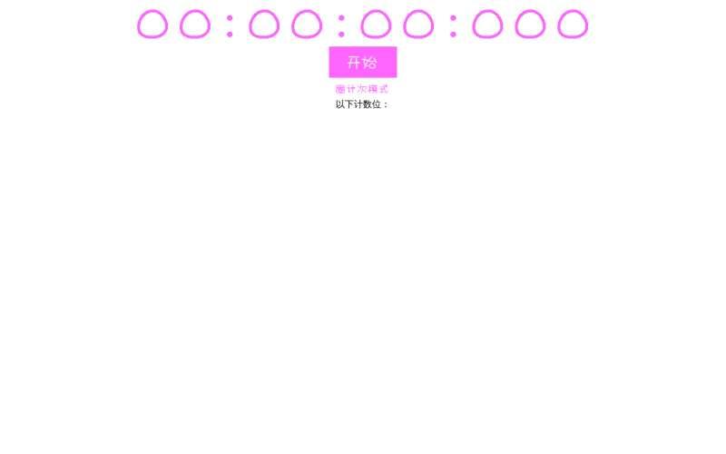 jQuery简单的秒表计时器代码