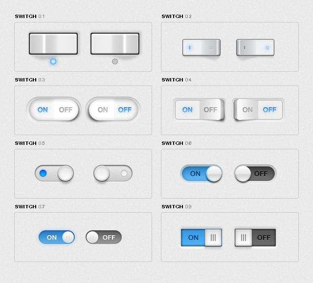 iphone界面风格的立体的开关按钮psd素材下载