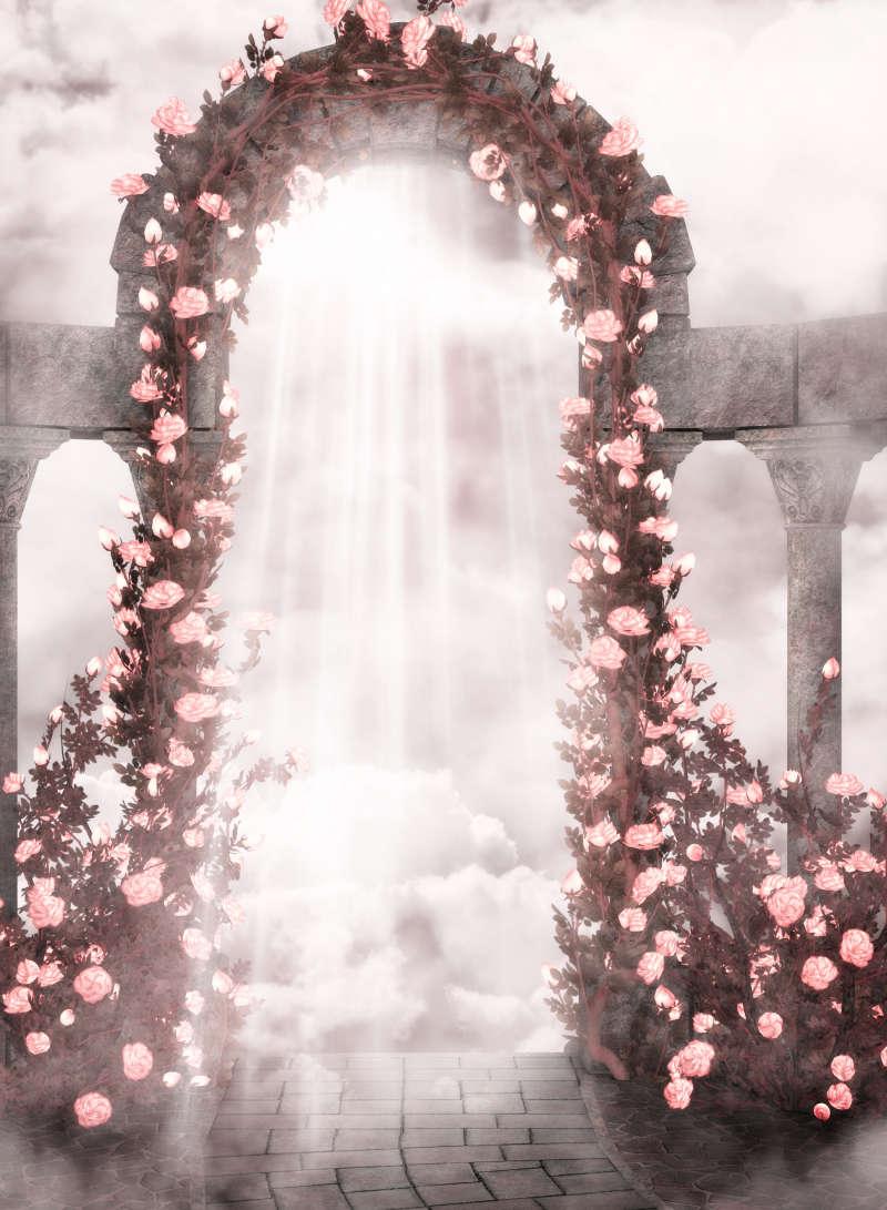 浪漫梦幻的高清影楼背景图片素材