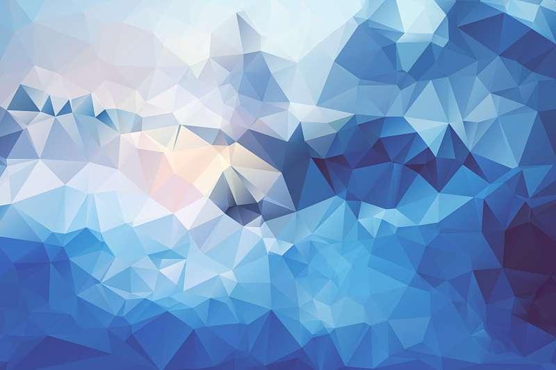 超漂亮的蓝色菱形扁平化大背景图素材
