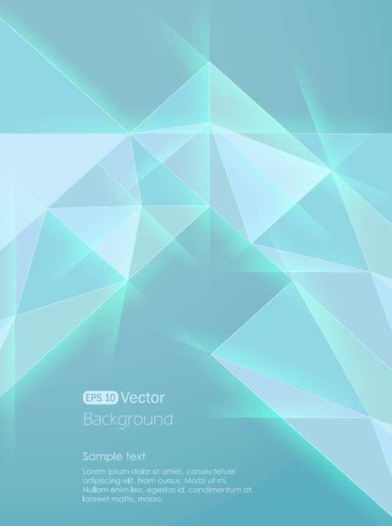 扁平化蓝色水晶菱形抽象背景图片素材