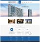 蓝色大气的电梯行业网站模板psd下载