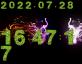 原生js树叶数字时钟代码
