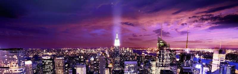 绚丽高清城市夜景背景图片素材
