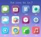 iphone手机苹果Ios7系统扁平化桌面工具图标psd分层素材下载