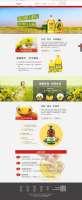 红色的健康好油专题页面设计模板psd下载