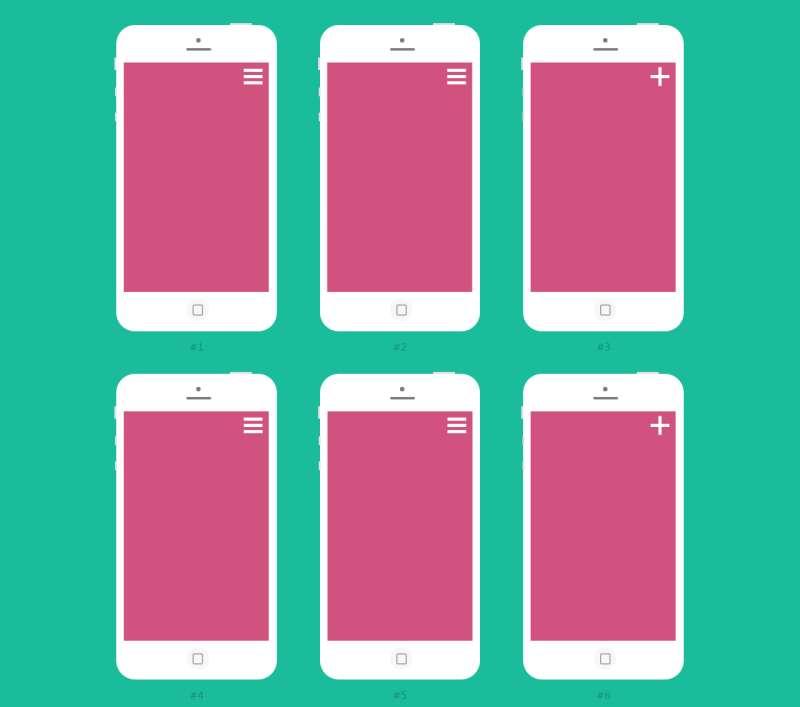 6款html5手机顶部导航菜单遮罩显示效果