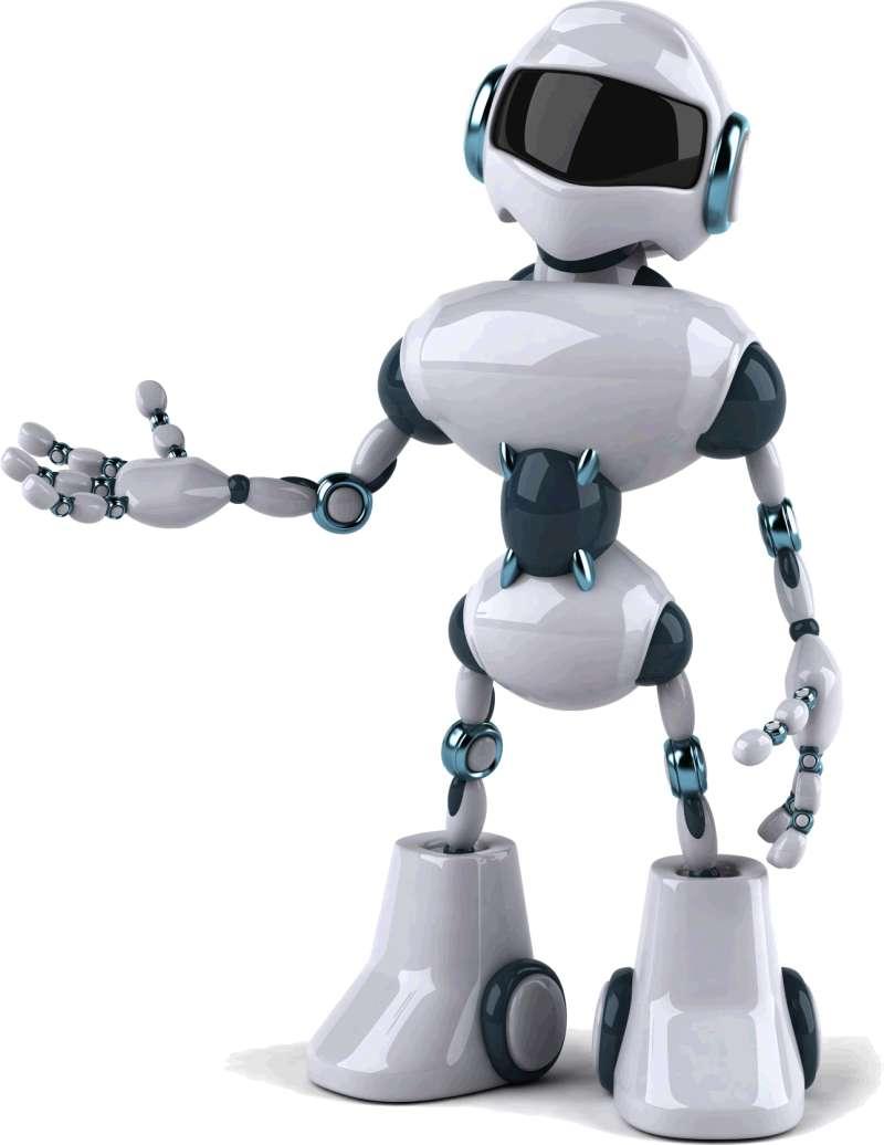 灰白色的人工机器人服务图片素材下载