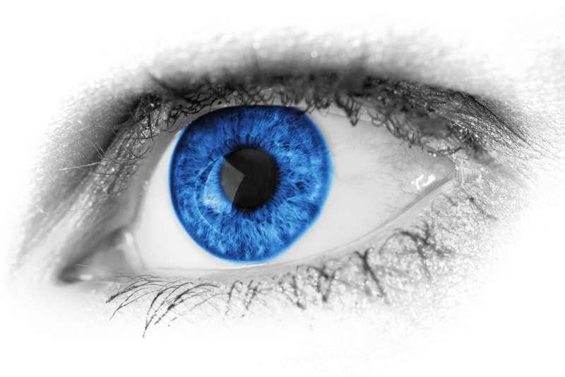 高清抽象的蓝色眼睛摄影图片素材