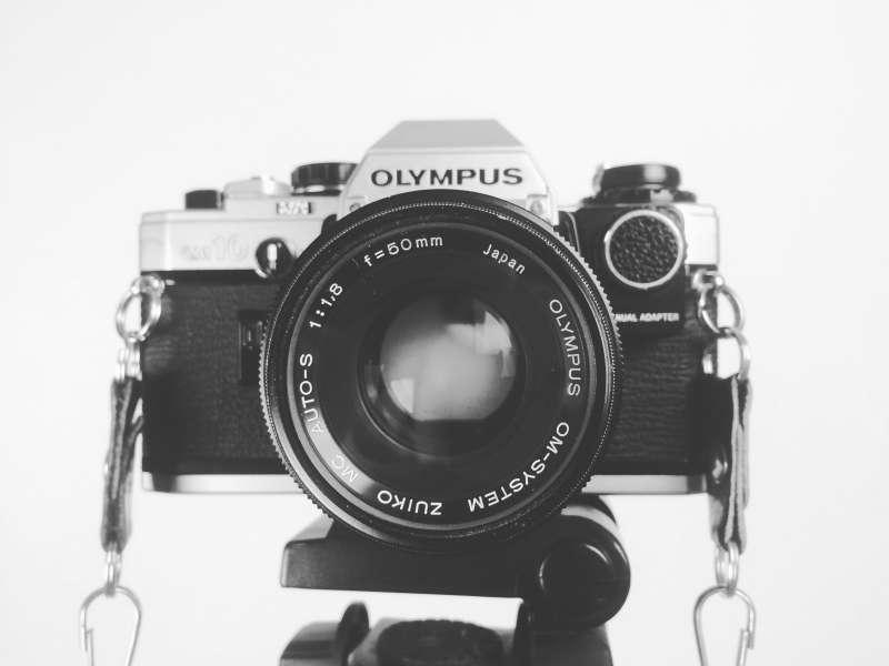经典复古老式照相机高清图片素材