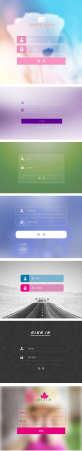 大气的手机页面登录模板设计psd下载