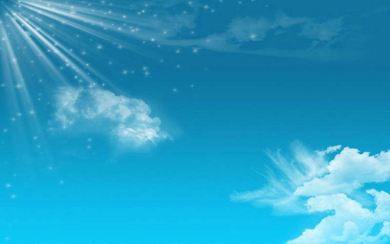 闪亮的蓝天背景图片_星光闪闪蓝天背景图片_蓝色天空网页背景