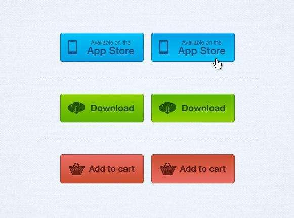 3种欧美风格按钮_下载按钮_加入购物车按钮下载