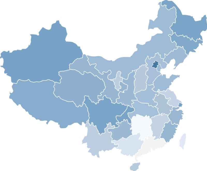 蓝色的中国地图矢量素材ai素材下载