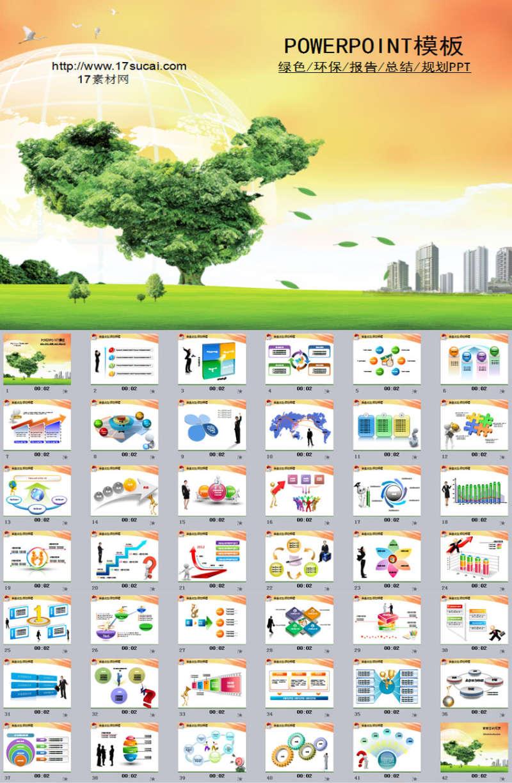 绿色环保能源工作报告总结PPT模板下载